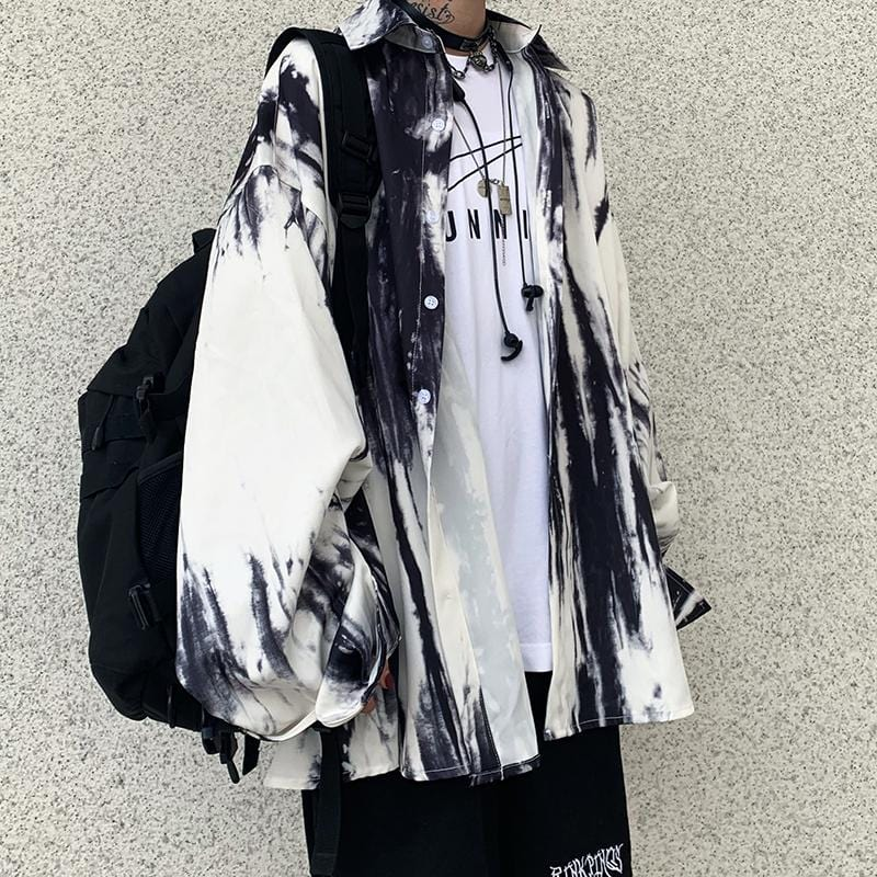 HARAJUKU TIE-DYED LONG SLEEVE SHIRT