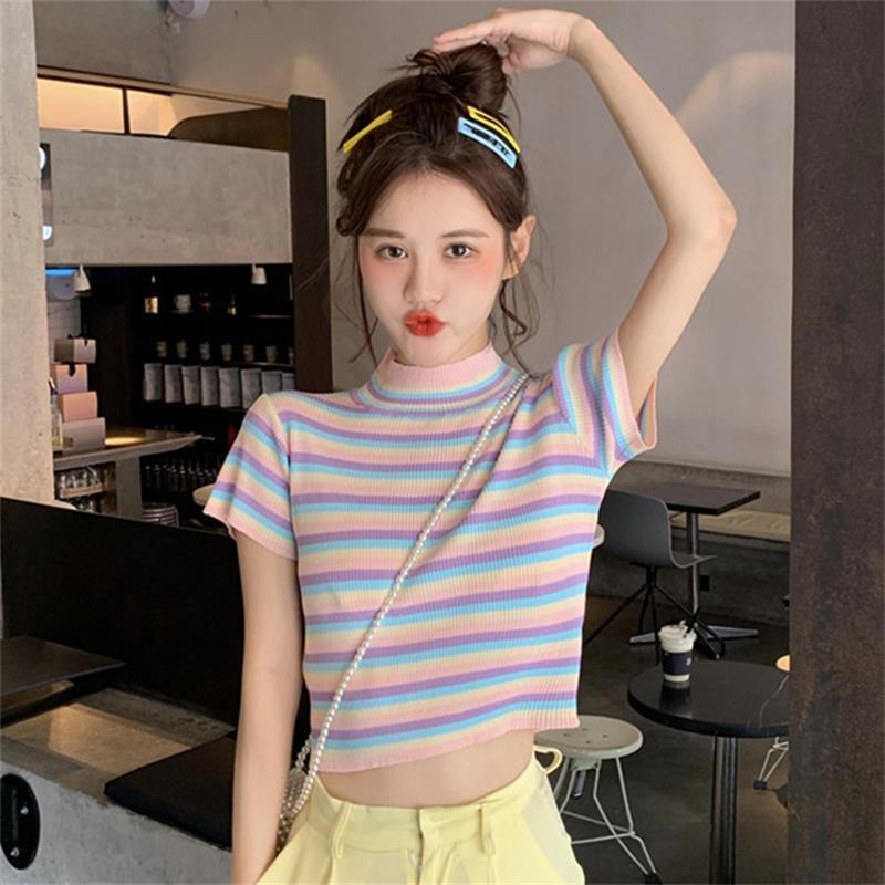 PASTEL RAINBOW STRIPE TOP