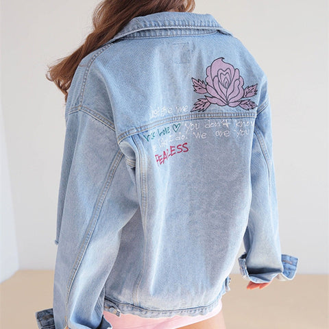 VINTAGE ROSE DENIM JACKET