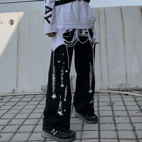 SIDE STAR PRINTED PANTS