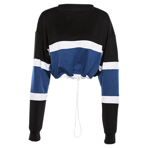 COLORBLOCK DRAWSTRING SWEATER