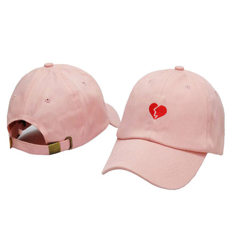 HEARTBREAK EMBROIDERED PEAK CAP