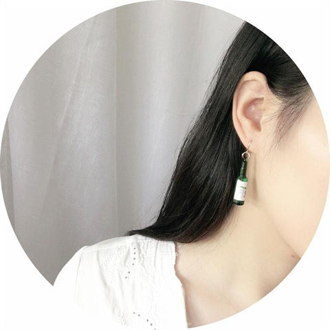 BOTTLE EARRINGS (2 pairs)