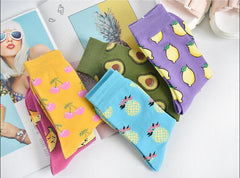 FRUIT CUTE SOCKS (5 pairs)