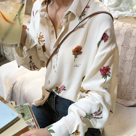 BOTANICAL FLOWERS SHIRT