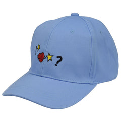 BLUE STAR HEART CAP