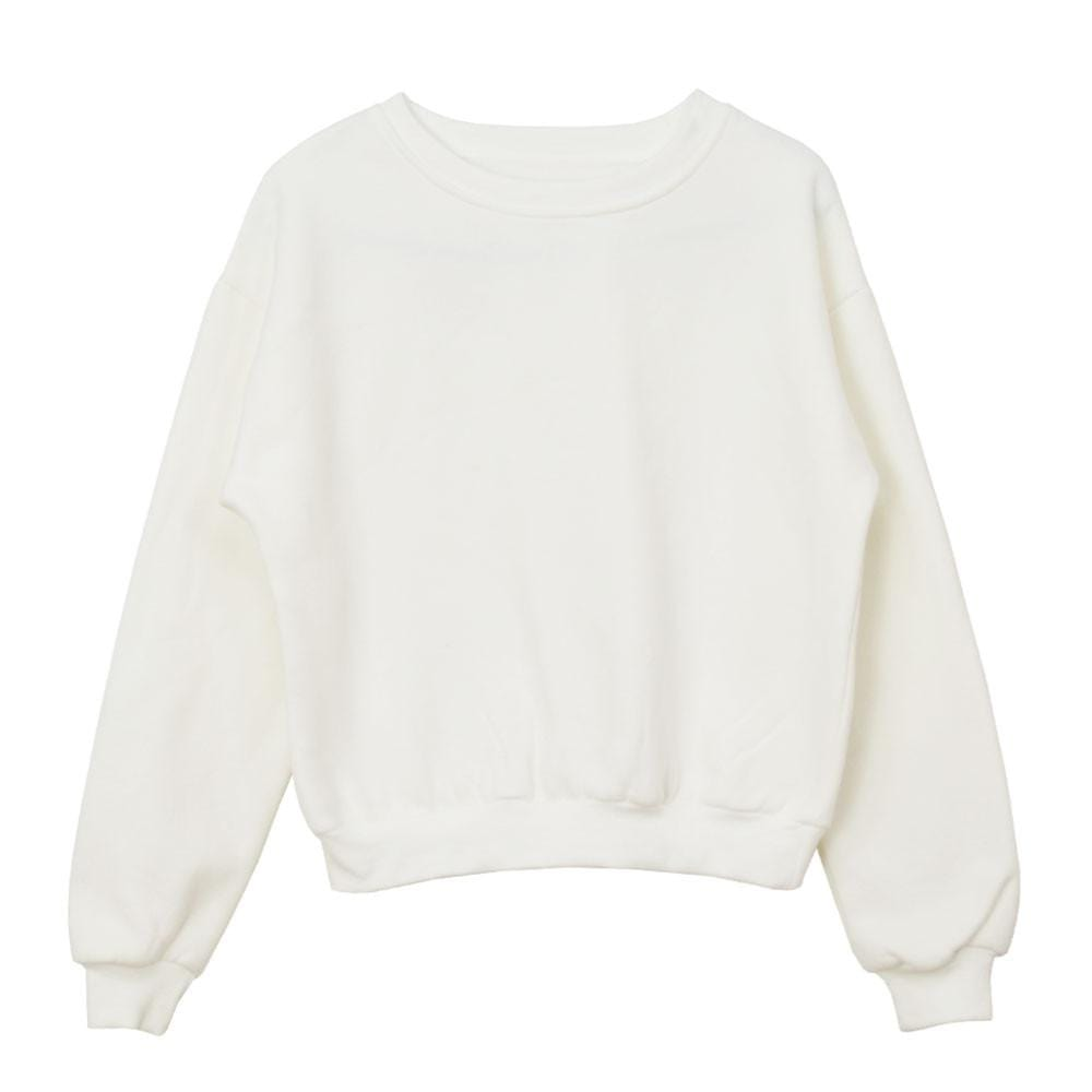 CROPPED PLAIN SWEATER