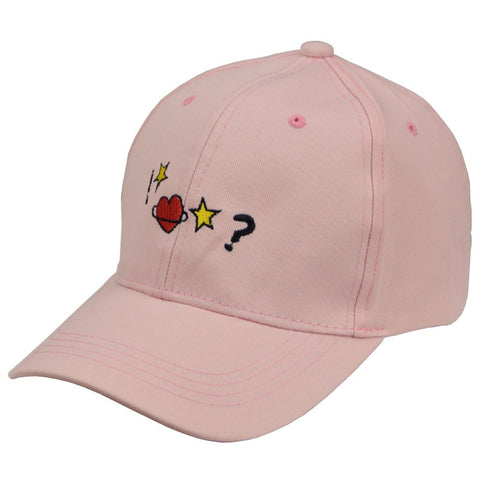 PINK STAR HEART CAP