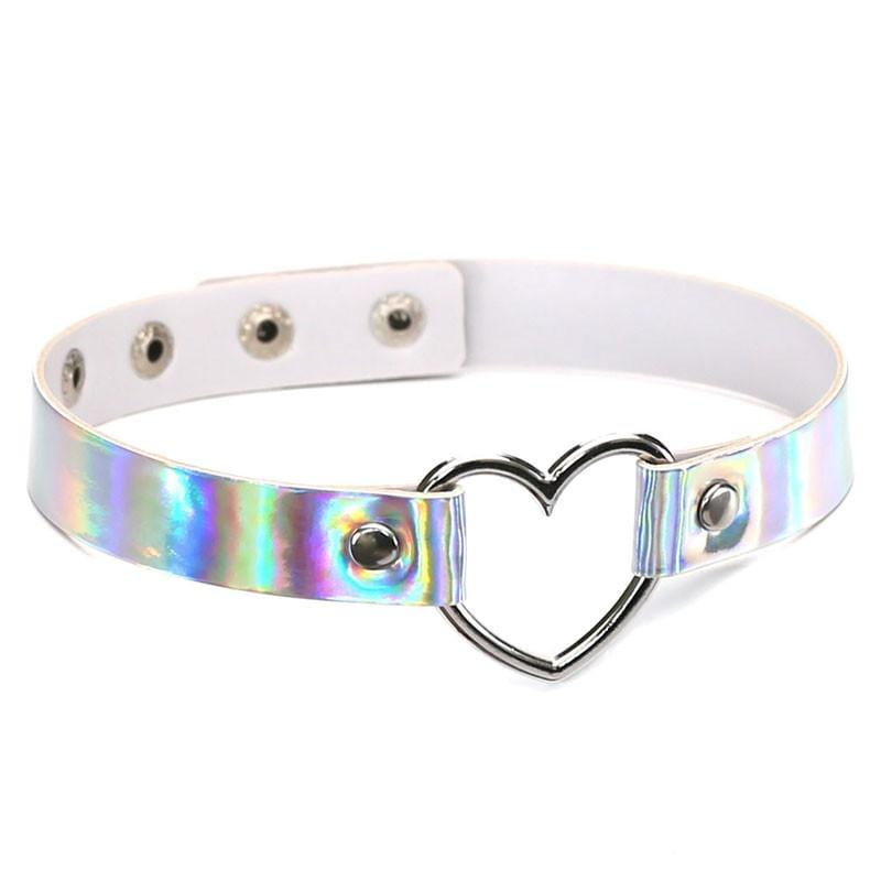 HOLOGRAPHIC LOVE CHOKER