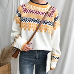 RETRO PATTERN KNITTED