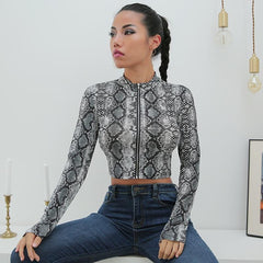 SNAKE CROPPED TOP