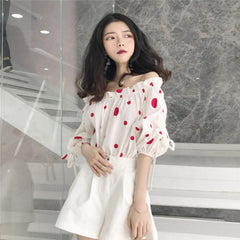 POLKA DOT LOOSE SHIRT