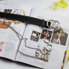 DOUBLE CIRCLE CHAIN BELT