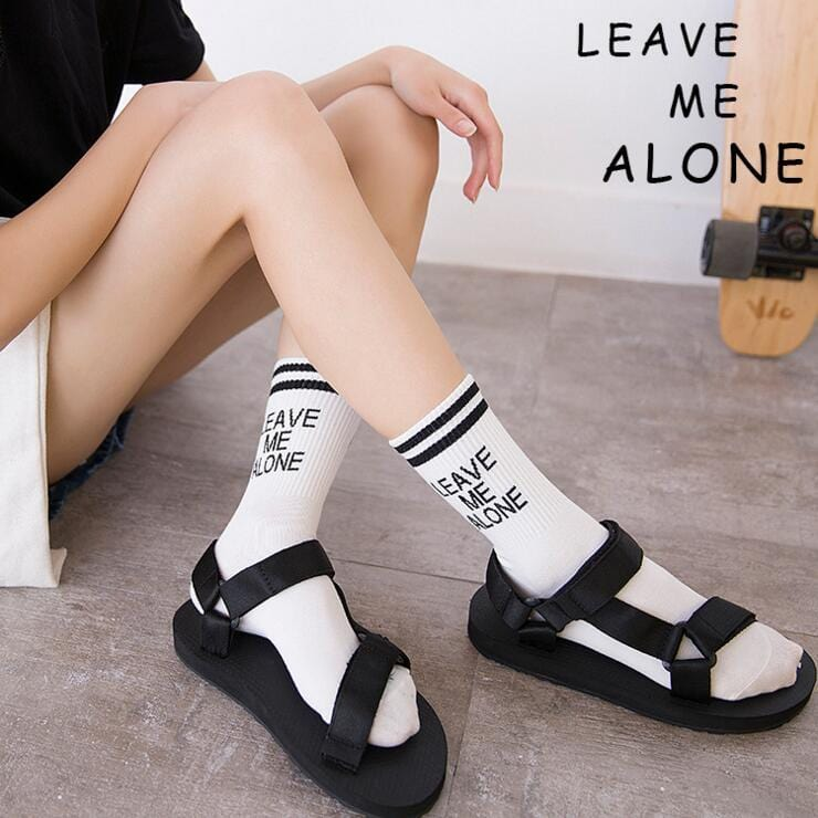 LEAVE ME ALONE SOCKS