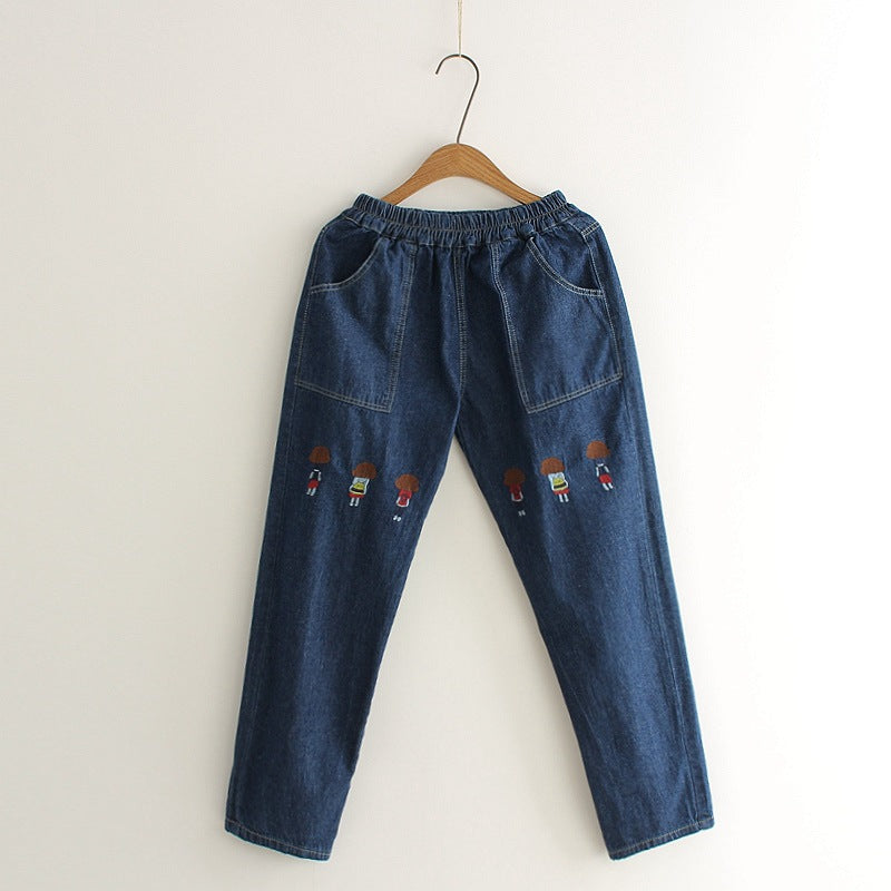GIRLS EMBROIDERED JEANS