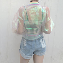 RAINBOW SEE THROUGH JACKET