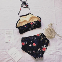 BLACK FLOWER SWIMSUIT
