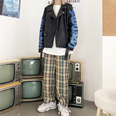VINTAGE PLAID STRAIGHT PANTS