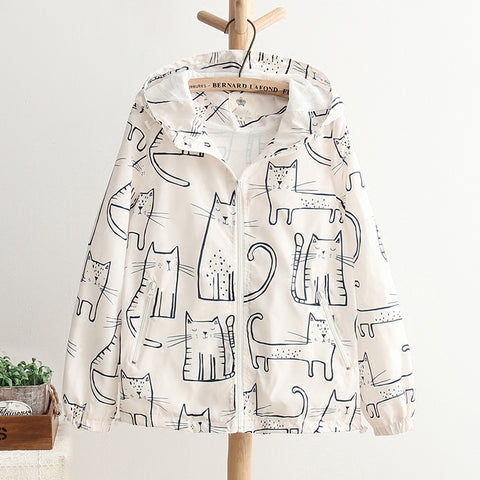 PRINTED CAT JACKET