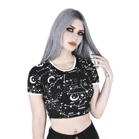GALAXY CONSTELLATION CROP TOP