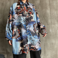 DRAGON WAVES LONG SLEEVE SHIRT
