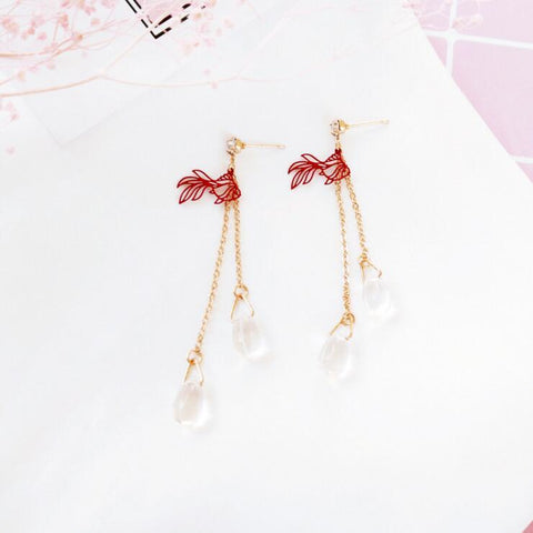 GOLDFISH DROPLETS EARRINGS