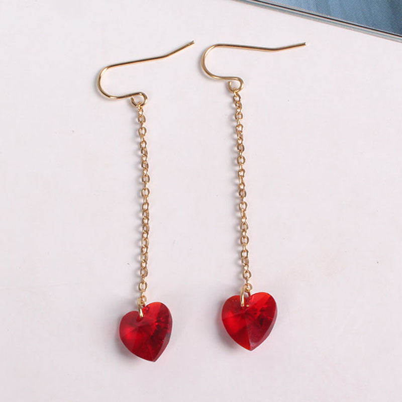 double products earrings heart yippywhippy