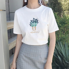 LAVENDER EMBROIDERY TEE
