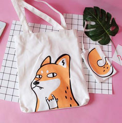 CUTE FOX PRINTED BAGS