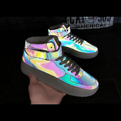 REFLECTIVE COLOR HIGH SHOES (8-12)