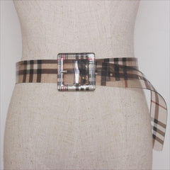 TRANSPARENT GRID PVC BELT