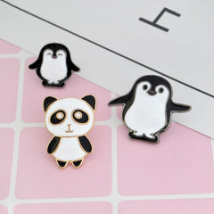 PENGUINS AND A PANDA PINS (SET/3PCS)