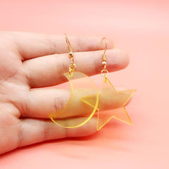 STAR ADN MOON EARRINGS