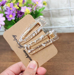 CUTE TRANSPARENT HAIR CLIP (5pcs)