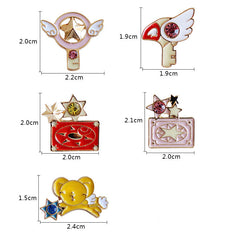 CARD CAPTOR PINS (SET/5PCS)