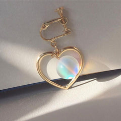 HEART GLASS EARRINGS