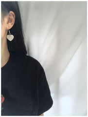 HEART SHELL EARRINGS