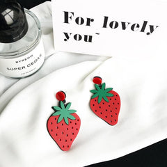LARGE STRAWBERRY EARRINGS