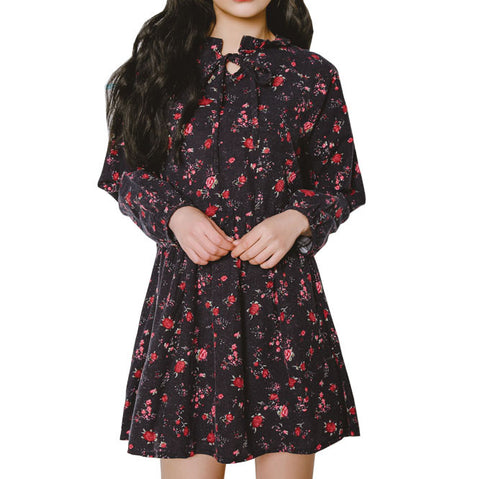 NAVY FLOWERS DRESS