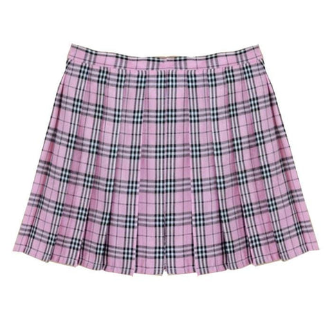 PINK GRID TENNIS SKIRT