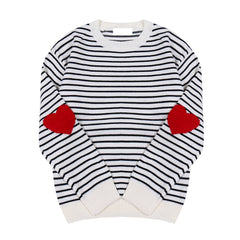 STRIPED HEART KNITTED