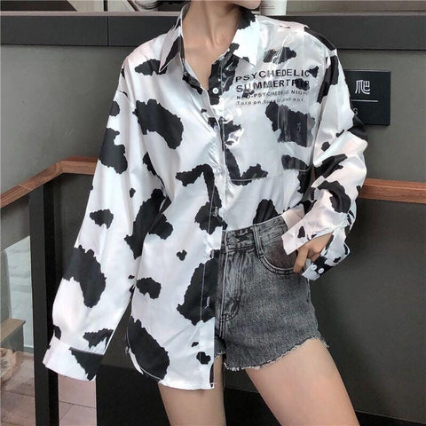 MILK PRINTED SHIRT