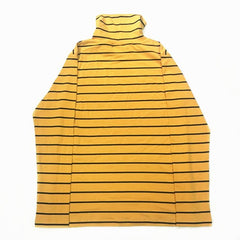 YELLOW STRIPED TURTLENECK