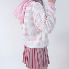 STRAWBERRY STRIPE HOODIES