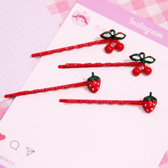 LOLITA FRUIT STRAWBERRY HAIR CLIP (3pairs)