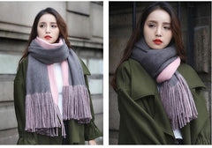 LONG TWO TONED SCARF