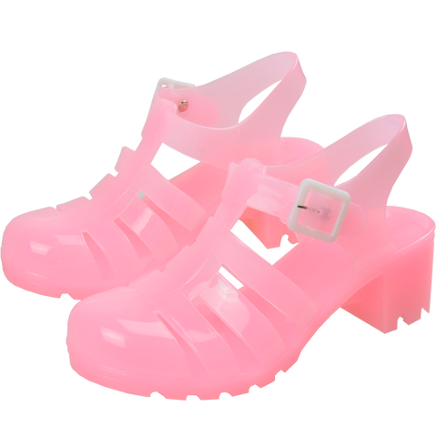 PINK JELLY SANDALS (4.5-5.5)