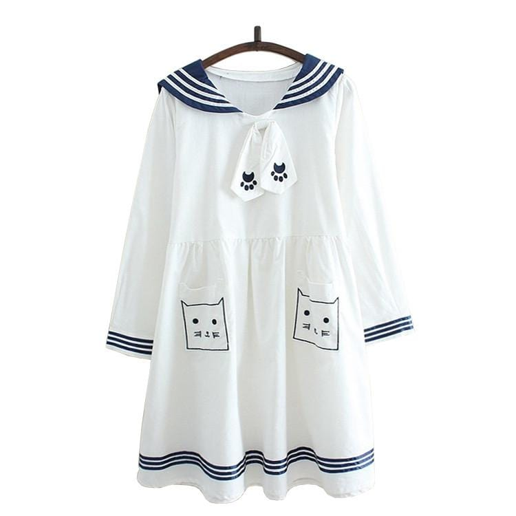 WHITE CAT DRESS