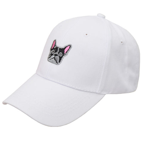 WHITE DOG HAT