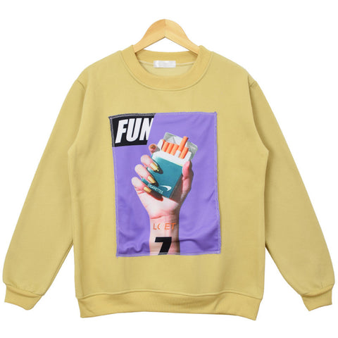 YELLOW 7 FUN SWEATER